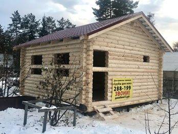 Зимний дом из бруса - наши работы