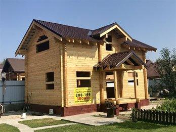 Двухэтажный дом из бруса в портфолио