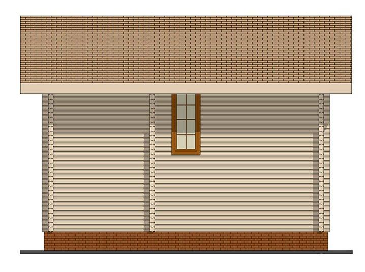 Фасад дома из профилированного бруса сбоку