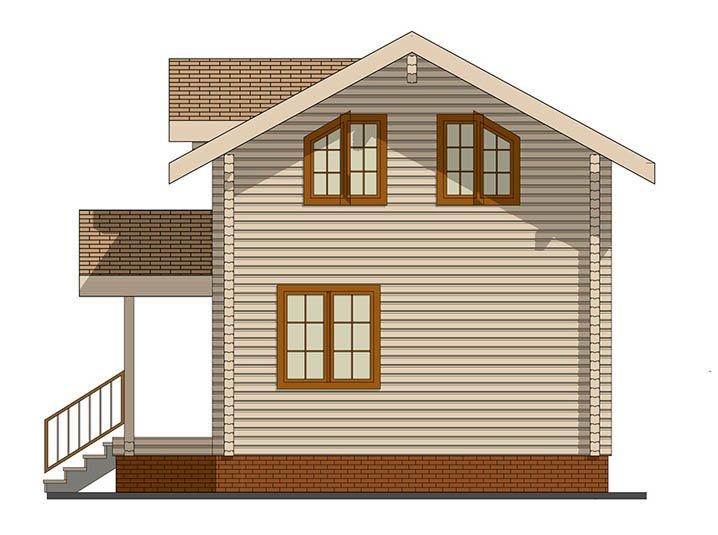 Семейный дом из бруса вид сбоку